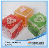 Caixa de dobramento macia de venda quente do empacotamento plástico do PVC do vinco