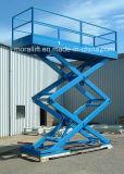 A plataforma hidráulica do carro Scissor o elevador