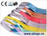 7:1 giallo di fattore di sicurezza dell'imbracatura 3t della tessitura del poliestere