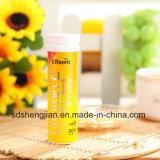 Tablilla de la vitamina C de la escritura de la etiqueta privada de los suplementos de las vitaminas