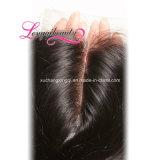 Chiusura brasiliana 4*4 dei capelli dell'onda del corpo del Virgin all'ingrosso non trattato di 100%