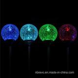 Lumière solaire de boule de cristal d'horizontal pour la voie de jardin (RS106)