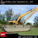 Pontoon Jyp-84를 가진 수륙 양용 Excavator