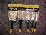 Conjunto de cepillo blanco de pintura de la cerda con la maneta plástica
