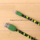 USB plano Charger Cable de Camo Lightning para iPhone5