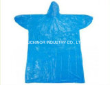 Plastikwegwerf-PET Poncho-Regenmantel in der Kugel-Form