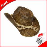 Sombrero de paja de la rafia, sombrero de vaquero, sombrero de paja de la manera