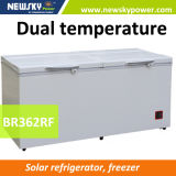 433L 212L Singel & congelatore solare della cassa di CC di doppia temperatura