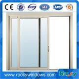 América estilo usado alumínio único vidro temperado janelas / alumínio janela deslizante e porta