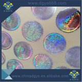 Etiquetas adesivas do holograma holográfico azul feito sob encomenda da segurança da cor
