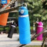 bottiglia di acqua riutilizzabile della bottiglia di acqua pieghevole del silicone 750ml