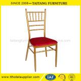 赤い固定クッションの結婚式の椅子が付いている鉄のChiavariの椅子