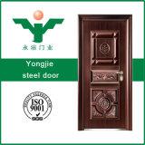 Puerta de acero de la seguridad de la puerta común del metal con precio bajo