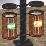 Profilé en aluminium Mupi Panneau de signalisation Boîte lumineuse publicitaire avec poubelle