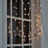 낭만주의 제작자 당 온난한 백색 LED 끈 빛 별 커튼 빛