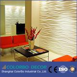 寝室の飾ることのための現代装飾的な革3D壁パネル