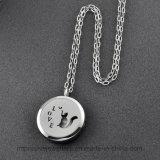 Charm Memorial soporte de acero Ijd8204 magnífico cisne inoxidable 316L cremación colgante, collar del animal doméstico cenizas del recuerdo
