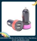 Alta qualidade colorido 2 portas USB Carregador de carro para celular