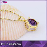Jeux de bijou plaqués par or de cuivre de mode de Zircon pour des filles de la jeunesse