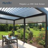 AluminiumPergolaGazebo mit justierbaren Dach-Luftschlitzen