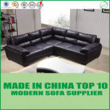 Modernes China stellt Feder-Kissen-Leder-Ecken-Sofa her