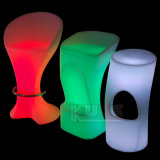 Multicolor LED Light Cocktail Table Bar Stools Iluminado High Bar Tables
