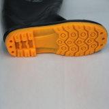 Ботинки дождя работы (черная подошва верхних/желтого цвета)