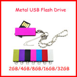 Unidad flash USB giratorio de metal a prueba de agua Thumbdrive USB de memoria Flash USB Mini Disco