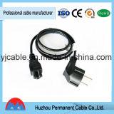 Alambre de cobre del conductor 25A/250V de la cuerda del cable de transmisión de la cuerda de extensión del estándar europeo IP44