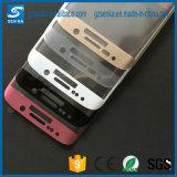 Samsung S6 Edge/S6の端のための電話アクセサリ3Dの完全なカバー緩和されたガラススクリーンの保護装置と