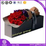 Boîte-cadeau de empaquetage de Squre Rectancle de tournée de distribution de journaux de fleur faite sur commande