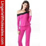 Втулка Sleepwear Comfor женщин способа длинняя с женское бельё пижамы плеча установленного сексуального