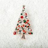 다채로운 수정같은 크리스마스 나무 브로치 새로운 최신 판매 옷 훈장 브로치를 위한 상한 대기권 브로치