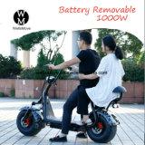Самокат Harley мопеда большого колеса электрический с батареей лития