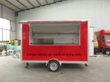 Glass Re-Enforced Panel High Quality Mobile Food Trailer Trailer de Alimentos para Venda