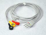 3 cabo creativo das ligações ECG Holter para o monitor da telemetria