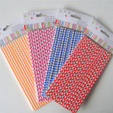 Palhas de papel 100% Eco-Friendly coloridas Checkered para o partido