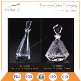 Frasco de vinho quente do vidro de sílex da venda com selo de vidro da cortiça