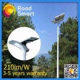 Indicatore luminoso di via solare intelligente del giardino di 15W LED con il sensore di movimento