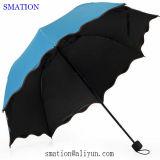 Lady Famale mudança Color Fashion Flower Promocional Umbrella Atacado bonito