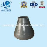 Hohe Mangan-Stahlgußteil-Kegel-Zerkleinerungsmaschine-konkaver Umhang