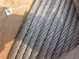 corde galvanisée par 6*7+Iwrc de fil d'acier pour l'ascenseur
