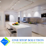白く光沢度の高いラッカー終わりの食器棚の家具の食器棚(ZY 1182年)
