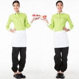 Верхние части 100% формы кухни пальто шеф-повара женщин хлопка