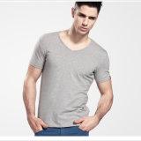 남자 의류를 위한 공백 V 목 호리호리한 t-셔츠