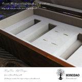 _E direct d'approvisionnement de logo de Hongdao de sachets à thé d'usine en bois normale faite sur commande de caisse d'emballage