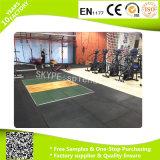 Estera de goma durable del suelo de la gimnasia del deporte EPDM