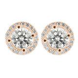 マイクロ設定925の純銀製のハローのイヤリングの宝石類の卸売