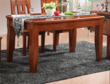 アメリカの田舎様式の純木のダイニングテーブル及び椅子