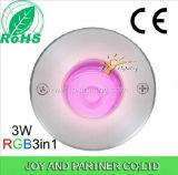 스테인리스 3W 지하 갑판 빛 RGB LED (JP82316)